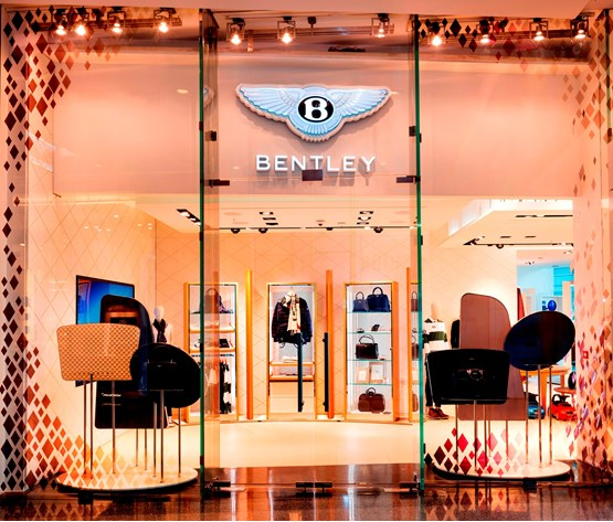 Bentley's luxury personalisation studio in Westfield London