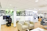 VW dealer customer lounge area