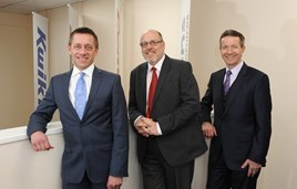 Kwik Fit appointments 2017 - Andy Fern and Simon Lucas and retiring Peter Lambert