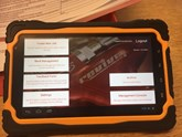 Revive! management information tablet close up