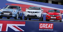 SMMT displays UK built cars in Paris ahead of the 2016 Paris Motor Show