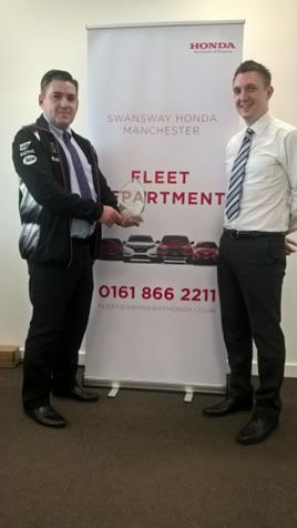 Swansway Honda corporate sales managers Lee Yates and David McGovern 2017