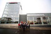 Staff outside Macklin Motors Nissan Glasgow