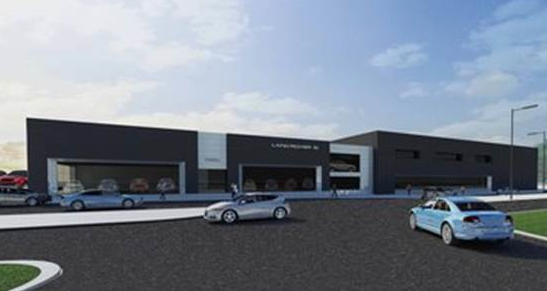 Farnell Land Rover Leeds - artists impression