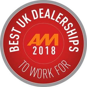 AM Best Dealership To Work For 2018 logo