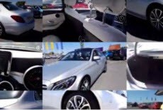 A collage of multiple images of a silver car or its features from different angles