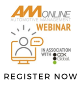 Register now link for the AM webinar The Future of Motor Retailing on October 25