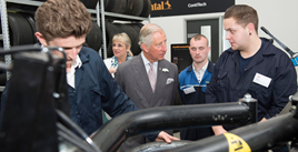 Prince Charles at Arnold Clark Glasgow 2015