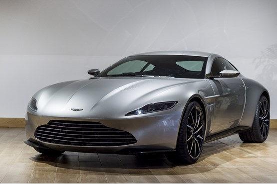 Aston Martin DB10 featuring in the new James Bond movie Spectre