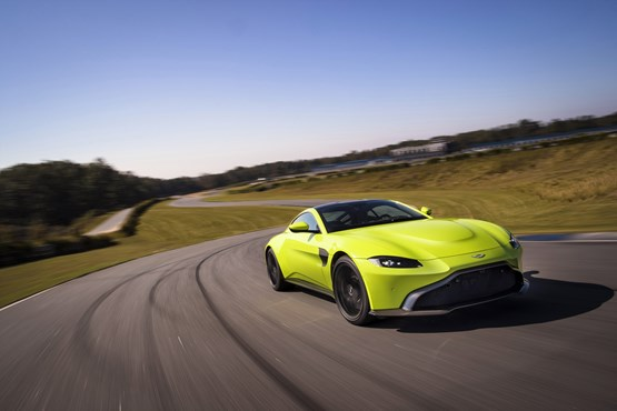 Reduced production: front-engined sports cars like the Aston Martin Vantage