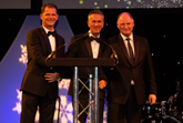 Darren Guiver, Jon Wakefield and Andy Bruce at the 2018 Ben Ball