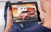 BMW Retail Online on a tablet