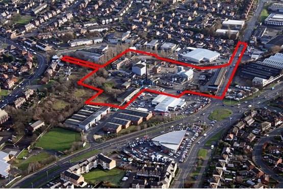 Planned location of Vertu's Renault dealership in Leeds