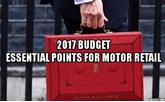 Budget 2017 for motor retailers