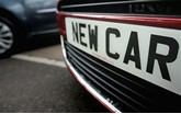 New car reg plate