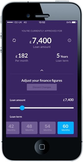 CarFinance 247 app screen