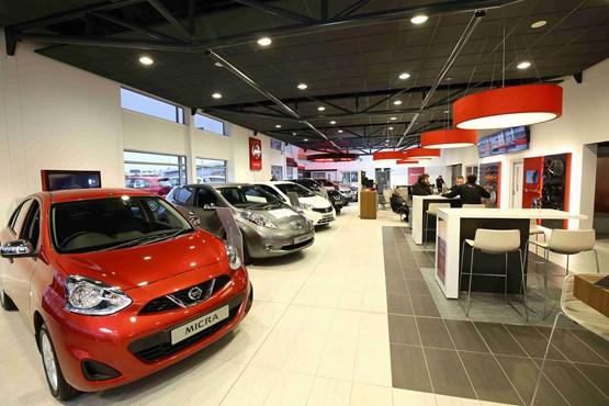 Charles Hurst Belfast Nissan showroom