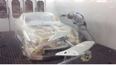 Dick Lovett Spraymaster bodyshop May 2016