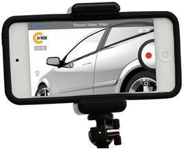 CitNOW sales video on a mobile