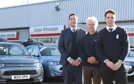Simon, Bob and Craig Close of Close Motor Company Mitsubishi Peterborough