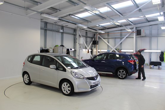 Aftersales facility at Cox Motor Group Southport Honda