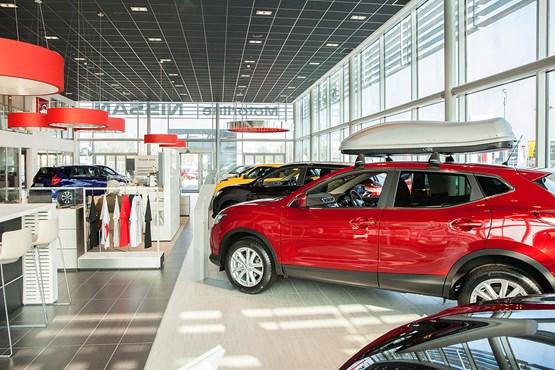 Nissan's new showroom design at Motorline Nissan in Maidstone, Kent