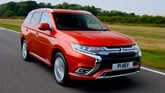 2019 Mitsubishi Outlander in red