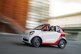 Driving shot of a Smart fortwo cabrio 2016