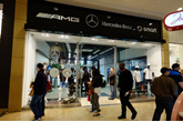Mercedes-Benz Retail's pop-up store in Birmingham's Bullring shopping centre