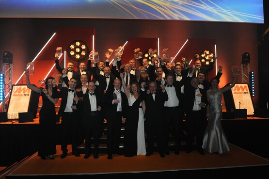 AM Awards 2019 winners on stage at the Birmingham ICC