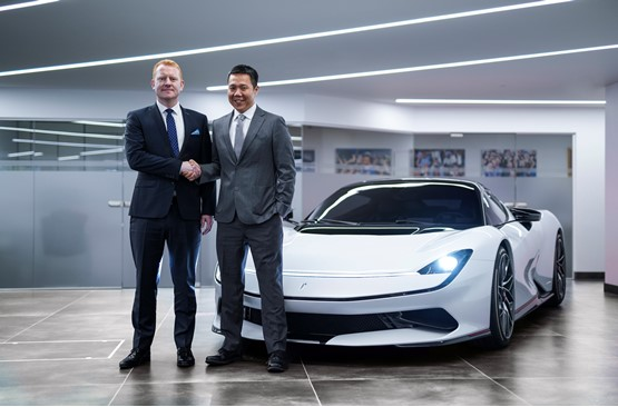 Dan Connell, chief brand officer at Automobili Pininfarina, and HR Owen CEO Ken Choo