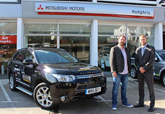 Martyn Chalk, company director of ChalkStar Films and Adam Ingles, general manager at Humphris Mitsubishi
