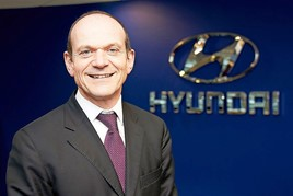 Outgoing Hyundai Motor UK president and chief executive, Tony Whitehorn