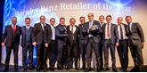 Inchcape South Midlands wins Mercedes-Benz' Retailer of the Year Award 2017