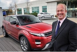 JLR managing director, Jeremy Hicks