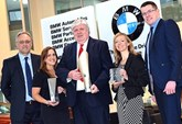 Steve Holt (Lloyd Motor Group corporate sales administrator), Jodie Smith (local business development manager), Graham Henry (corporate sales manager), Kelly Gaze (local business development manager) and Mark Sheedy (group corporate and business manager).