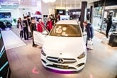 Inside a Mercedes-Benz pop-up store
