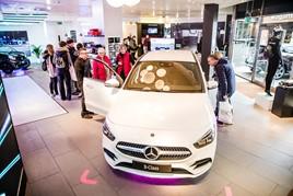 Inside a Mercedes-Benz pop-up store