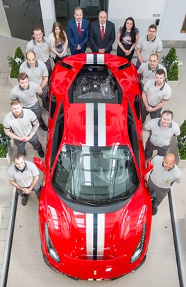 New Ferrari Service Centre at Meridien Modena, Lyndhurst - The Ferrari aftersales team