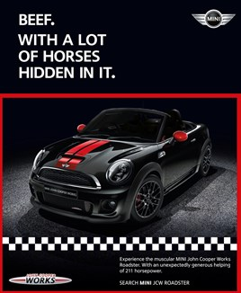 Mini Jumps On Horse Meat Scandal To Promote Roadster Car