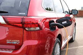 The Mitsubishi Outlander plug-in hybrid (PHEV) SUV