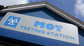 MoT testing station sign