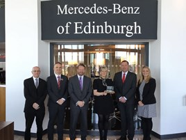 Mercedes Benz of Edinburgh - Annual Award Commended Cat 3 (80-200 handovers)