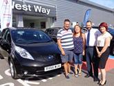 Jenny Craik with West Way Nissan Aldershot dealer principal Luke Wheeler