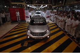 A Honda CR-V  at the Swindon plant