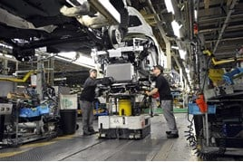 Vehicle production at Nissan's Sunderland plant