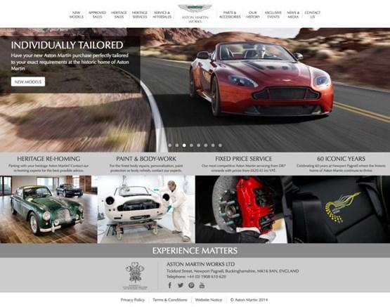 Aston Martin Works Unveils New Website Car Manufacturer News
