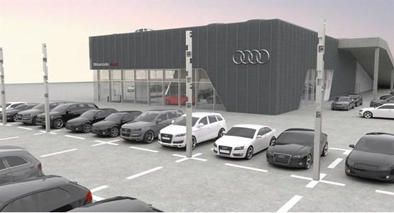 Benfield Starts On New M Audi Car Dealership For Sunderland - Audi car dealership