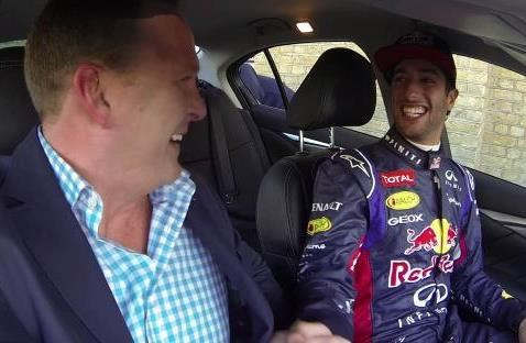 Infiniti's F1 driver Daniel Ricciardo