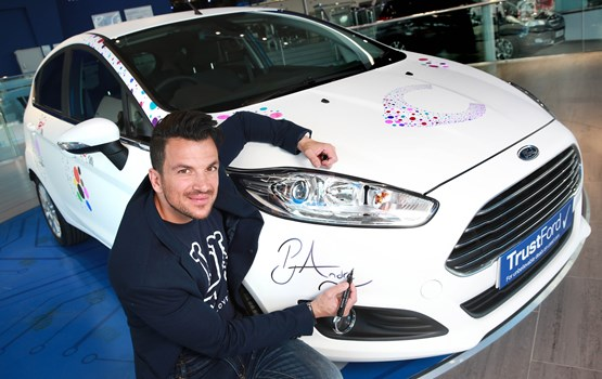 TrustFord partners with Peter Andre in aid of Cancer Research UK